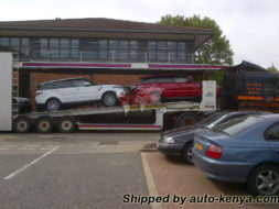 Two Brand New Range Rovers Being Shipped in a 40FT Container to Mombasa