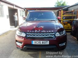 40FT Container with 2 Brand New Range Rover Sports to Mombasa