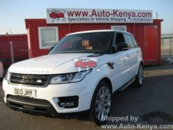 Nearly New Range Rover Sport shipped to Mombasa