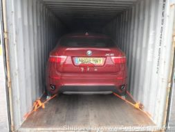 40 FT Container with a BMW X6 and a Mercedes CLS to Mombasa