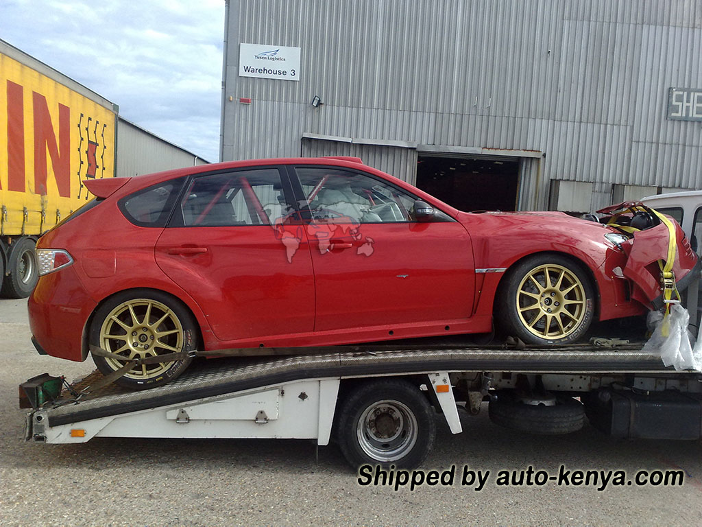 Subaru Rally Car Shipped by Auto Kenya to Mombasa